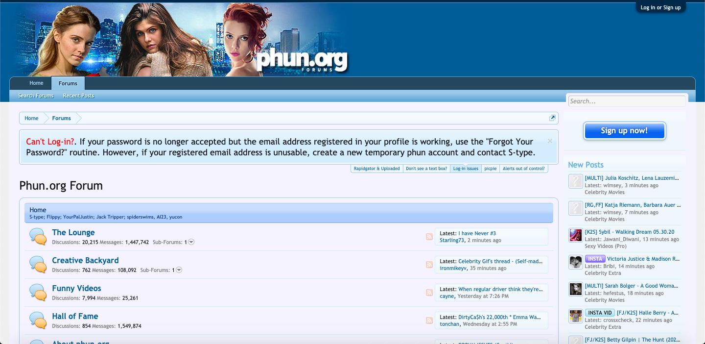 Phun Forum Model