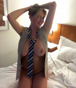 Kate Upton teasing secretary nude pic